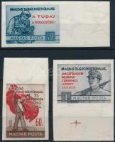 1954 Magyar Tanácsköztársaság ívszéli vágott sor (13.000) (törések, 1Ft ujjlenyomat)