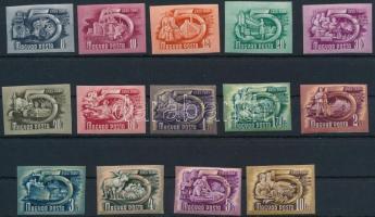 1950 Ötéves terv I. ívszéli vágott sor (90.000)