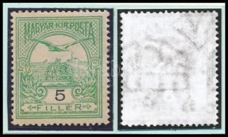 1908 Turul 5f számvízjellel, nagy ritkaság! (68.000) / number in watermark