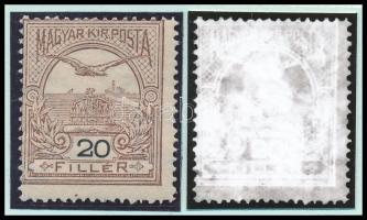1908 Turul 20f számvízjellel, nagy ritkaság! (25.000) /
