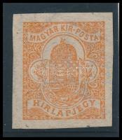 1908 Hírlapbélyeg számvízjellel, nagy ritkaság! (110.000) /