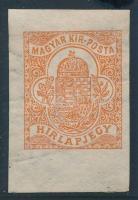 1908 Hírlapbélyeg számvízjellel, nagy ritkaság! (54.000) /