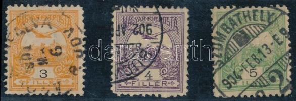 1900 Turul 3f, 4f, 5f 11 1/2 fogazással