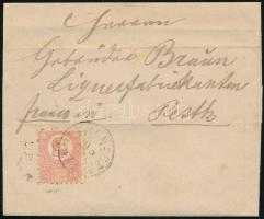 1871 Kőnyomat 5kr levélen SELMECZBÁNYA