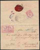 1871 Kőnyomat 3 x 5kr ajánlott levélen PILIS-CSABA - SZABADKA. M.THERESIOPEL (50.000++) (regiszterhajtás /fold)