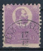 1871 Nagyon szép színű kőnyomat 25kr (45.000) (alul levágva /cut below)