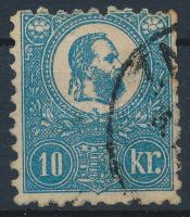 1871 Kőnyomat 10kr (26.500) (pici elvékonyodás / tiny thin paper)