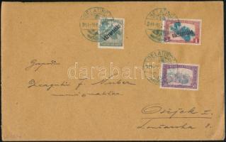1919 Belatinc 3 db magánkiadású bélyeg távolsági levélen