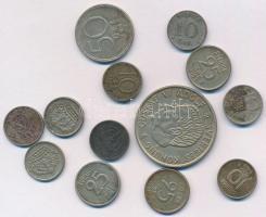Svédország 1936-1958. 10ö Ag (6x) + 1964-1969. 10ö Cu-Ni (2x) + 1953-1961. 25ö Ag (3x) + 1946. 50ö Ag + 1955. 2K Ag VI. Gusztáv T:2,2- Sweden 1936-1958. 10 Öre Ag (6x) +1964-1969. 10 Öre Cu-Ni (2x) + 1953-1961. 25 Öre Ag (3x) + 1946. 50 Öre Ag + 1955. 2 Kronor Ag Gustaf VI C:XF,VF