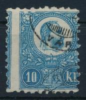 1871 Réznyomat 10kr képbe fogazva