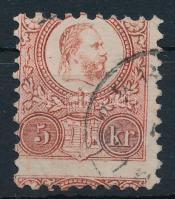 1871 Réznyomat 5kr képbe fogazva