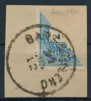 1881 Színes számú 10kr felezett bélyeg BARS-SZKLENÓ