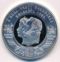DN Ferenc József koronázási érem ezüstözött rézötvözet, jelzett utánveret (38mm) T:PP