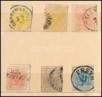 1850-1851 8 db bélyeg zsebberakóban