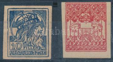 1900 Turul 2 féle bélyegterv