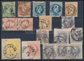 1867 10 db bélyeg és 7 db Hírlapbélyeg
