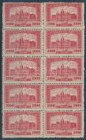 1921-1923 Parlament záróérték 10-es tömb (14.000)