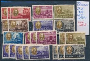 1947 Roosevelt 23 db bélyeg (20.700)