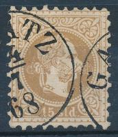 Magyar posta romániában 1867 15sld GA(L)ATZ (44.000)