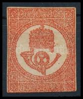 1871 Kőnyomású Hírlapbélyeg, sötétvörös (*45.000)