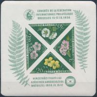 1958 FIP Virág vágott blokk (15.000)