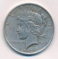Amerikai Egyesült Államok 1923. 1$ Ag Béke T:2 ph. USA 1923. One Dollar Ag Peace C:XF edge error Krause KM#150