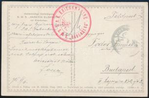 1915 Képeslap / Postcard K.u.k. KRIEGSMARINE S.M.S. BABENBERG