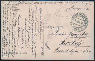 1916 Képeslap / Postcard K.u.k. KRIEGSMARINE S.M.S. BABENBERG