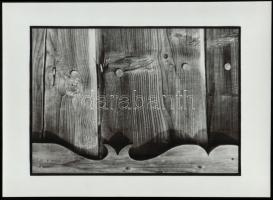 cca 1985 Móricz István: Motívum (Szentendrén), feliratozott, vintage fotóművészeti alkotás, a magyar fotográfia avantgarde korszakából, 27x37,5 cm