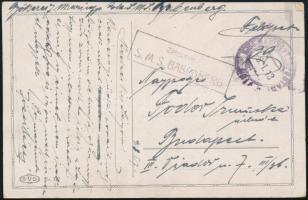 1918 Képeslap / Postcard ZENSURIERT S.M.S. BABENBERG