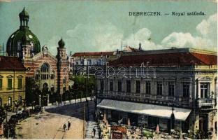 1922 Debrecen, Royal szálloda és kioszk, zsinagóga / synagogue (fl)