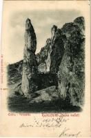 1903 Rajecfürdő, Rajecké Teplice; Előörs sziklák. Gansel Lipót 120. / Vorposten / rock formation (vágott / cut)