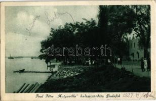 1927 Budapest XXII. Budafok, Paul Péter Kutyavilla halászcsárdája (EK)