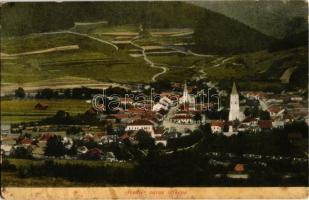 Svedlér, Svedlár; látkép, Evangélikus templom. Kiadja Szlovik Jenő / general view with Lutheran church (fl)