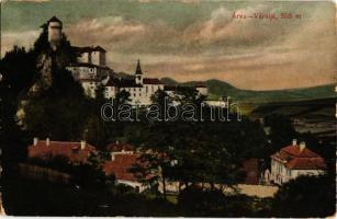 1908 Árvaváralja, Oravsky Podzámok; Árva vára. Kiadja Franz Pietschmann No. 2317. / Oravsky hrad / castle (kopott sarkak / worn corners)