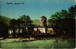 1914 Zsolna, Sillein, Zilina; Budatin vár, híd. Kiadja Schwarcz Vilmos 273. / Budatínsky hrad / Budatín castle, bridge (EK)