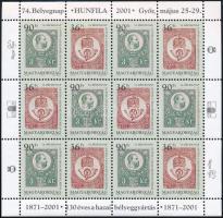 2001 Bélyegnap blokk 15 db (75.000)
