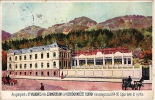 Budapest XII. Újjáépített Dr. Vaskovits-féle Szanatórium és Vízgyógyintézet. Városmajor utca 64-66.