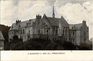 1915 Budapest I. Állami Főreáliskola (Toldy Ferenc Gimnázium). Toldy Ferenc u. 9. (Víziváros) (EK)