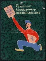 1957 Takarékbetétkönyv kártyanaptár
