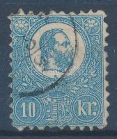 1871 Kőnyomat 10kr (26.500) (elvékonyodás, foghiba / thin paper, perf. fault)