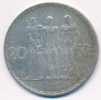 Csehszlovákia 1934. 20K Ag Ipar, mezőgazdaság, üzlet T:1- Czechoslovakia 1934. 20 Korun Ag Industry, Agriculture, Business C:AU  Krause KM#17