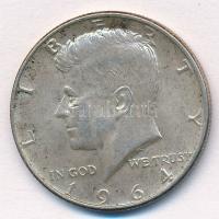 Amerikai Egyesült Államok 1964. 1/2$ Ag Kennedy T:1-,2  USA 1964. 1/2 Dollar Ag Kennedy C:AU,XF  Krause KM#202