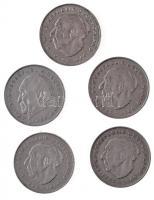NSZK 1971-1985. 2M (5xklf) T:2 FRG 1971-1985. 2 Mark (5xdiff) C:XF