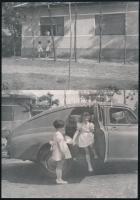 cca 1945 előtt készült AUTÓS felvételek, 19 db vintage fotó és/vagy későbbi nagyítás + 11 db vintage negatív, a papírképek és a negatívok között nincs összefüggés, 24x36 mm és 18x24 cm között