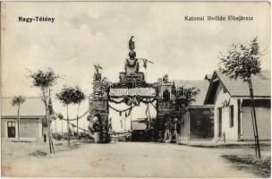 1913 Budapest XXII. Nagytétény, Katonai lövölde főbejárata. Weigand István kiadása