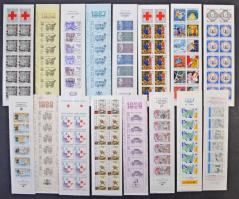 Franciaország 42 különféle alkalmi bélyegfüzet 1985-2002, ritka kínálat / 42 different stamp booklets (no definitives)