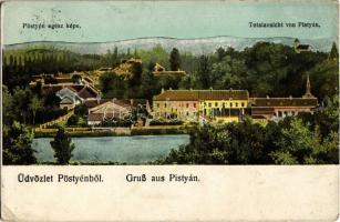 1915 Pöstyén, Pistyan, Piestany; Pöstyén egész képe, látkép. Kiadja Gipsz H. / Totalansicht von Pistyán / general view (EK)
