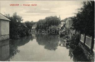 Ungvár, Uzshorod, Uzhorod; Kisungi részlet. Kiadja Földesi Gyula / Uzh riverside