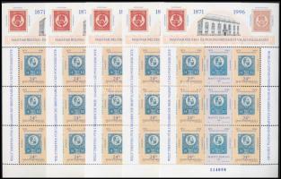 1996 Magyar bélyeg- és postatörténeti világtalálkozó 5 db blokk (10.000)